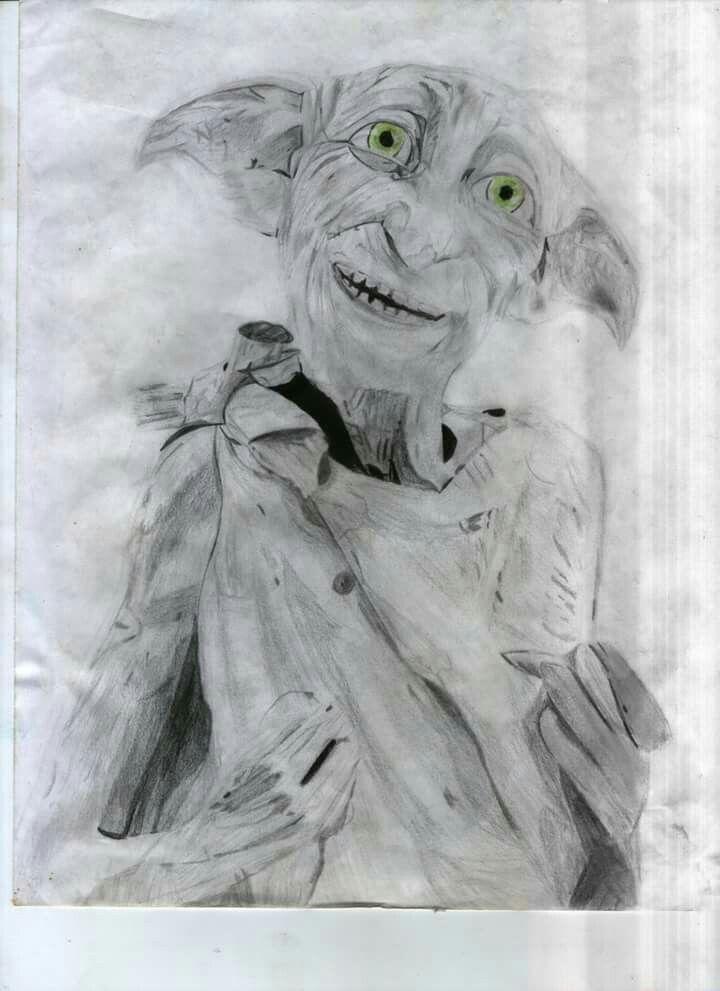 Dibujo a lápiz de doby de harry Potter