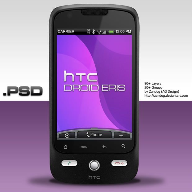 40 Detailed and High Quality Mobile Phone .psd Source Files