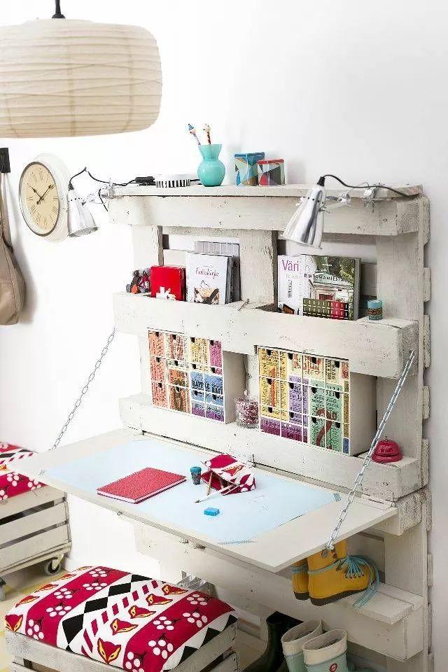 escritorio juvenil de palets