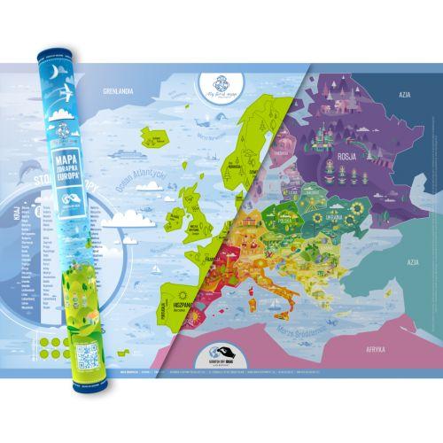 Europa mapa zdrapka, mapa zdrapka, PlayPrint