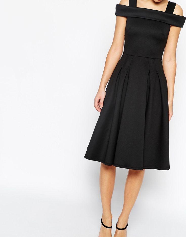 ASOS Bardot Strappy Debutante Midi Dress
