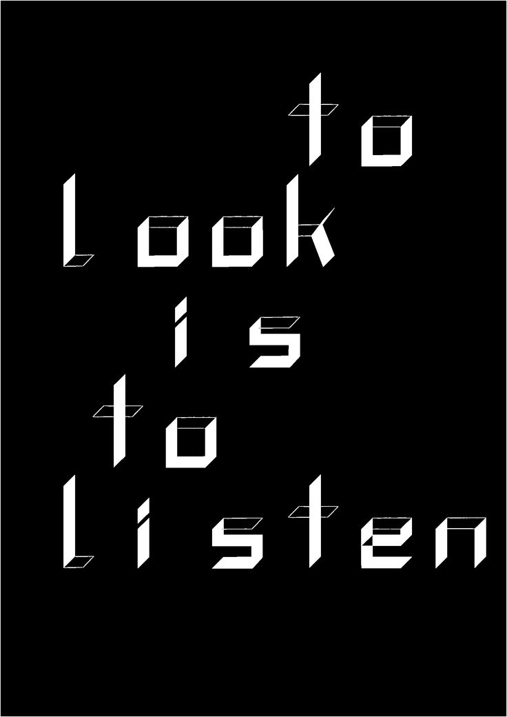 myrdesign, to look is to listen, typography, typografie