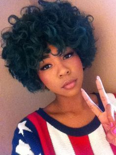 23 best Dyed natural hair images on Pinterest | Braids, Hairstyles ...