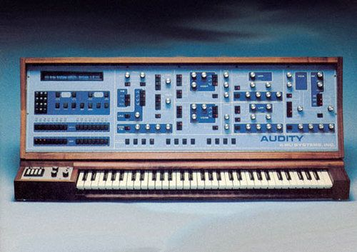 Love the wood panel on this old synthesizer