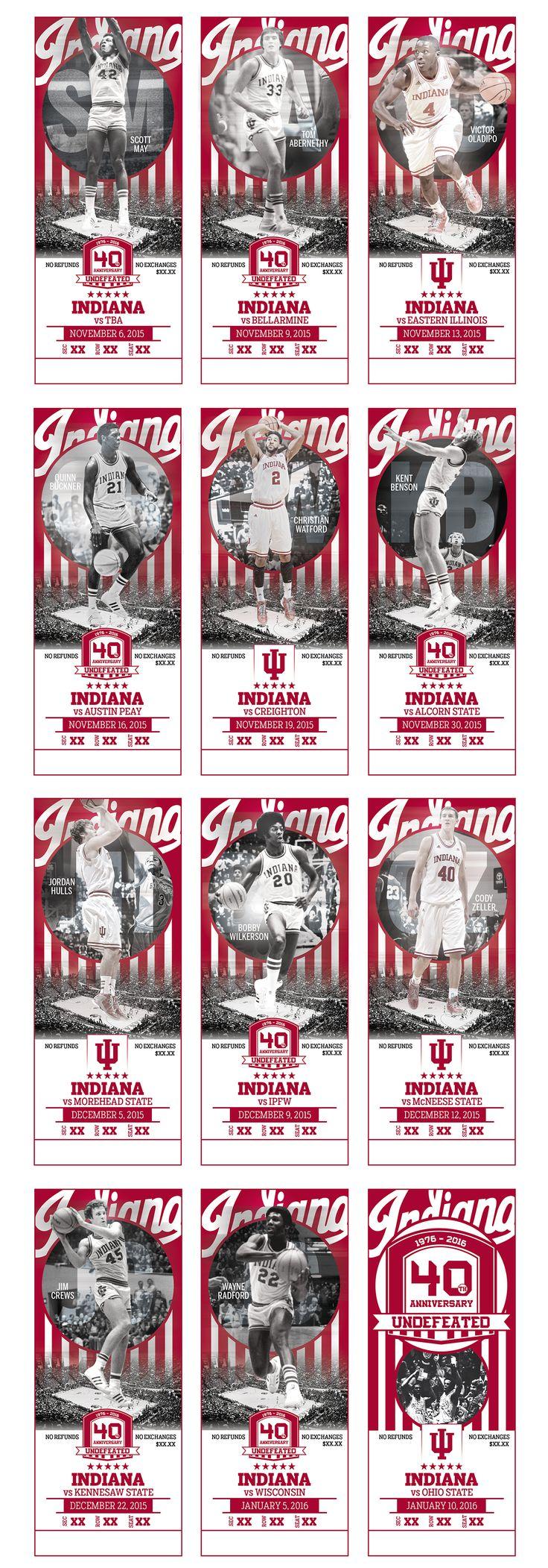 2015-16 Indiana Men's Basketball Season Tickets on Behance