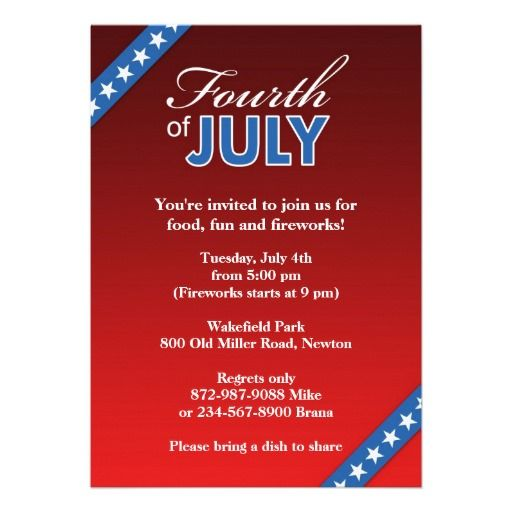 7 best 4th of july invitations images on pinterest invitation if you are looking for 4th of july party invitation cards then this american flag stopboris Image collections