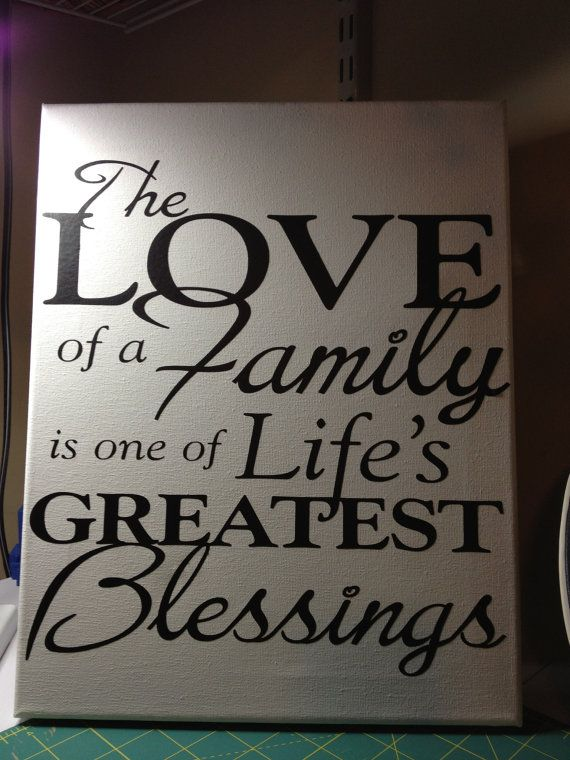 Canvas with Phrase on Family by WalkaboutWay on Etsy, $20.00