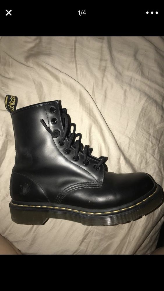 meilleur service d771a 7408c eBay link) DR. MARTENS BLACK LEATHER AIR WAIR BOOTS WOMEN'S ...