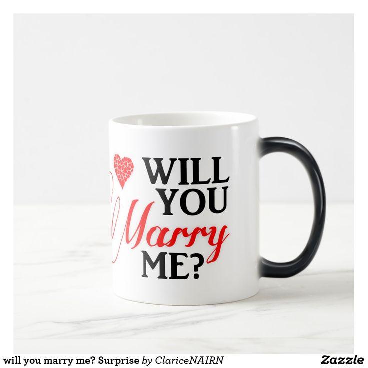 will you marry me? Surprise Magic Mug