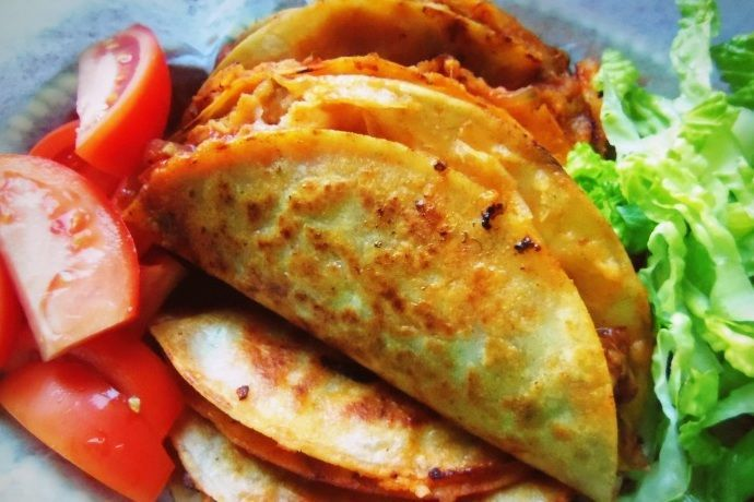 Tacos de Canasta Filled With Spicy Potatoes and Cheese                                                                                                                                                                                 More