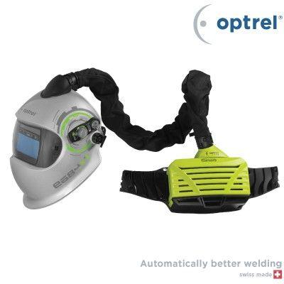 Optrel e3000 | Seibl Trade Sistem za prečišćavanje vazduha sa motornom jedinicom.  Najviša respiratorna zaštita i maksimalna udobnost - e3000 u kombinaciji sa maskama za zavarivanje (e684 i e680) pruža najvišu klasu zaštite TH3P prema standardu EN 12941. - Ima podešavanje brzine protoka vazduha od 150 do 250 l/min. - Filter se sastoji od predfiltera i filtera čestica koji štite od dima, prašine i isparenja.