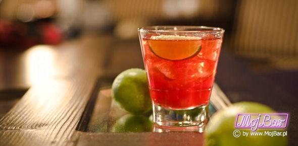 DEPTH BOMB Dobra kombinacja: brandy - 40ml, calvados - 40ml, limonka sok - 20ml, syrop cukrowy - 10ml, grenadina - 10ml,  Przepisy na drinki znajdziesz na: http://mojbar.pl/przepisy.htm