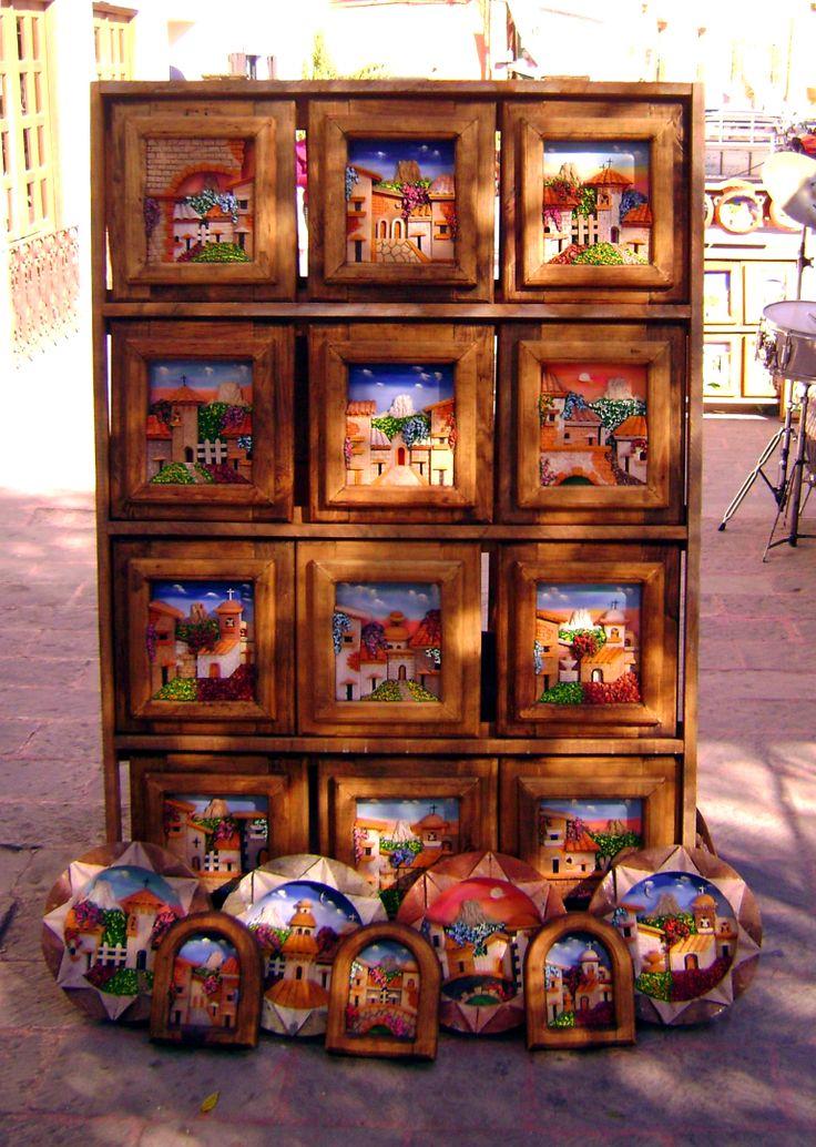 Cuadros rusticos en Tequisquiapan, Mexico