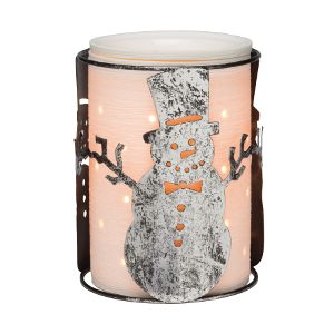 This snowman wrap is so cute! It can be paired with the etched core or the travertine core for the perfect compliment. Order yours at https://shelleyanderson.scentsy.us