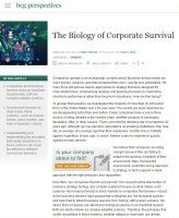 "Book summary of The Biology of Corporate Survival by Martin Reeves, Daichi Ueda and Simon Levin.  What do biological species and businesses have in common? They are both ""complex adaptive systems."""