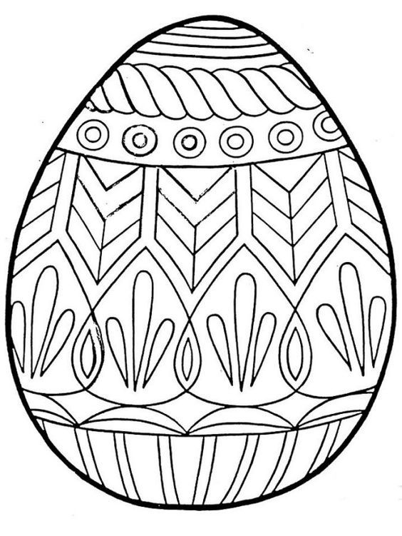Awesome Easter Coloring Pages Eggs 564x751