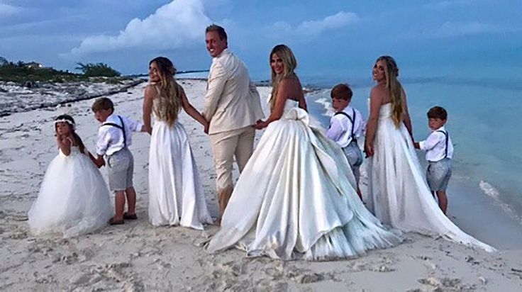 Kim Zolciak and husband Kroy Biermann renewed their vows to one another in a beautiful beach ceremony over Mother's...