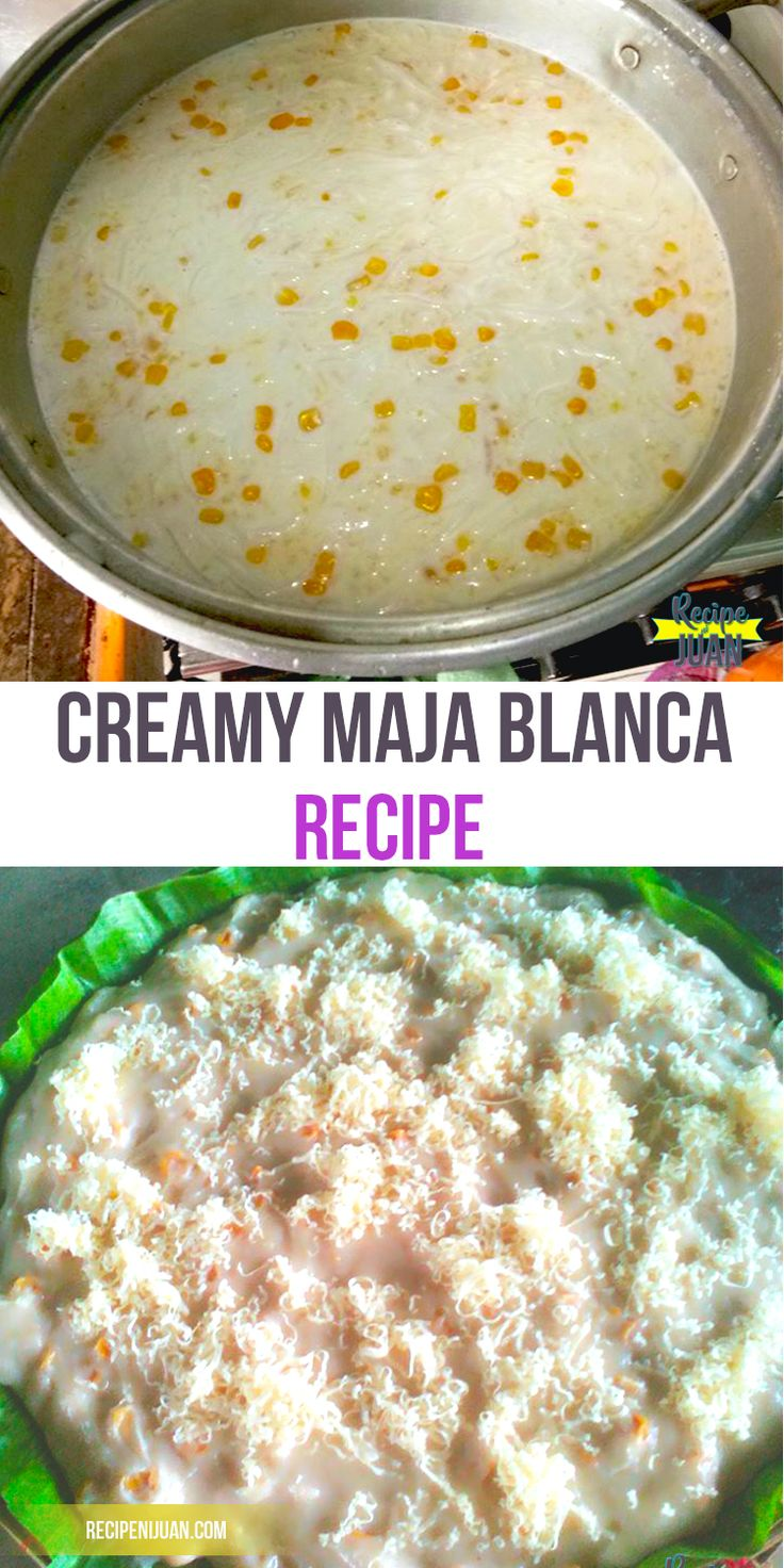 how to cook maja blanca without coconut milk