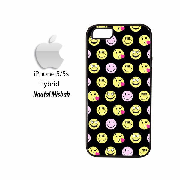 Pink Love Emoji Pattern iPhone 5/5s HYBRID Case Cover