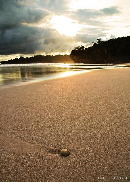 Selangir beach, west java, Indonesia