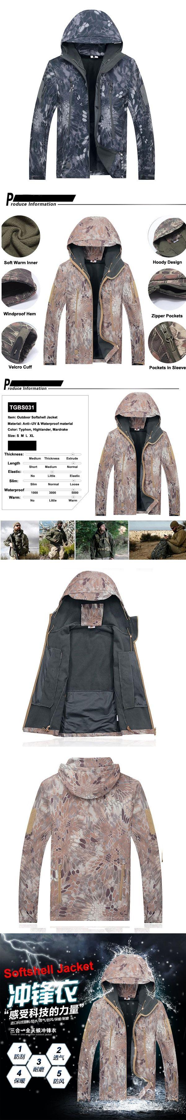 Highlander Softshell Jacket TAD tactical Softshell hoody Thermal jacket Kryptek softshell Outerwear