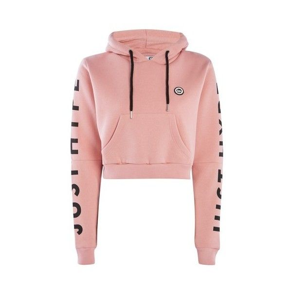 Dusty Pink Cropped Cut Out Hoodie by Hype (£40) ❤ liked on Polyvore featuring tops, hoodies, pink, cotton hoodie, pink hooded sweatshirt, cropped hoodie, cut-out crop tops and pink top