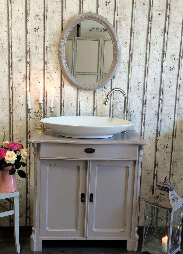 Unique  Elgin Shabby Chic Waschkommode mit Spiegel von Badm bel Landhaus Land und Liebe