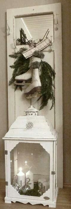 Em needs this old white door for her skates for Christmas