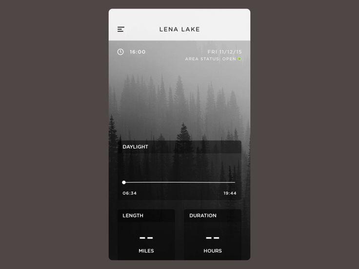 Pacific Northwest Camping App by Vince de Asis #UX #UI