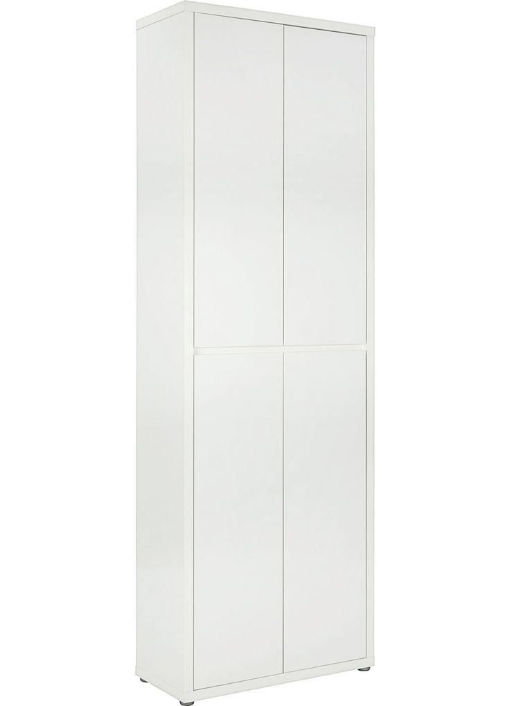 SCHUHSCHRANK Weiß Weiß, MODERN, Holzwerkstoff (70/211