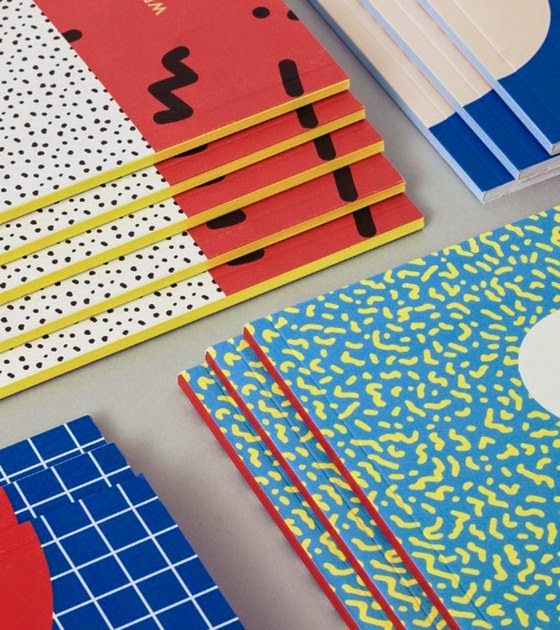 "patternprints journal: WONDERFUL ""MEMPHIS"" ​​PATTERNS IN THE NOTEBOOKS BY WRITE SKETCH &"