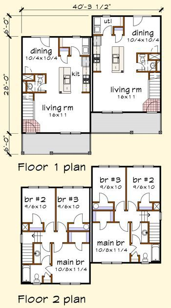 70 best house plans: multi-family images on pinterest | house