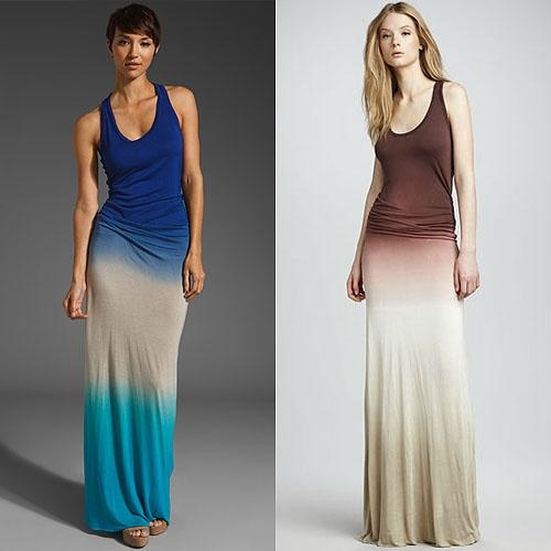 ombre dress: Trends, Maxi Dresses, Ombre Maxi, Colors, Blue Youngfabulousandbrok, Yfb Ombre, Biscuits, Design, Shadow Dresses