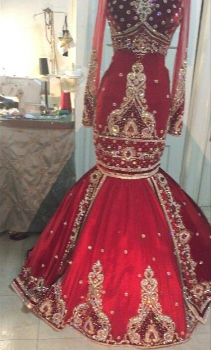 Palestinian style henna gown                                                                                                                                                     More