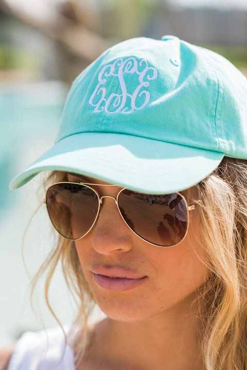 """Monogrammed Baseball Hat - Mint""A girl on the go always needs a good hat! You know, for those not so fantastic hair days or just for the days where you are too busy to fix it! #newarrivals #shopthemint #monogram"