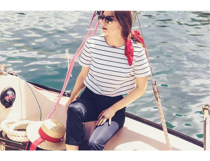 Raquette Resort Capsule 2016 #nautical #top #stripes #white #blue #new #collection #resort #2016 #spring #summer #voyage #travel #maisonraquette