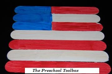 Fourth of July Craft Stick Flag Puzzles by thepreschooltoolboxblog Kids Crafts Puzzle