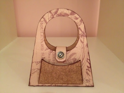 "A unique goodie ""bag"" cut out using Cricut Artiste from CTMH"