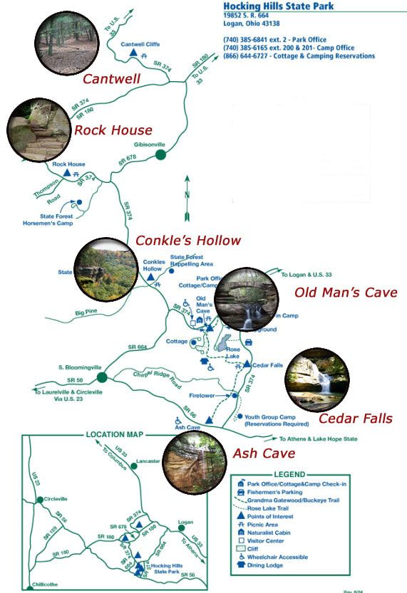 Hocking Hills Trail map - can't wait to go back in February!