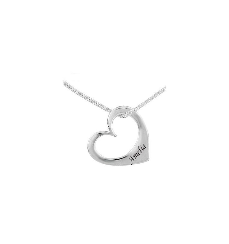 sweet little heart with your favourite child's name engraved