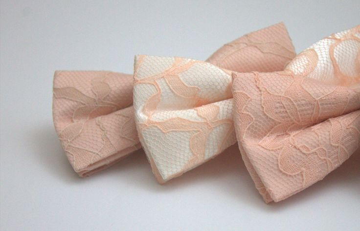 The Peachy Collection Bow Tie - Peach Bow Tie - Peach Lace Bow Tie - Adult Bow Tie - Kids Bow Tie - Peachy Bow Tie - Peach and Champagne Bow by OneDaintyTulip on Etsy https://www.etsy.com/listing/230960706/the-peachy-collection-bow-tie-peach-bow