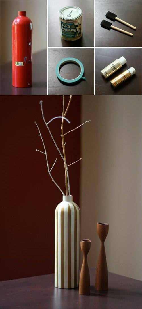 DIY: fire extinguisher vase ... or really any kind of vase you would want