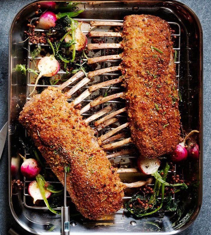 Roast Rack of Lamb with Dijon Bread Crumbs | Williams Sonoma