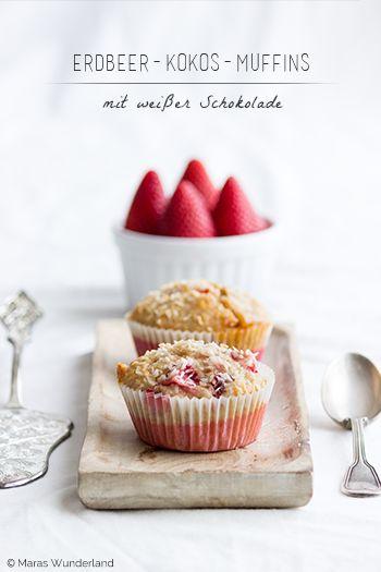 Erdbeer-Kokos-Muffins Sommermuffins trifft es hier wahrscheinlich am besten. Saftig, frisch, süß und außerdem leicht nachzubacken. So mag man sein Gebäck doch am liebsten, oder?