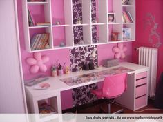 Photos décoration de Chambre bébé, enfant fille Rose Bonbon Rose Fuchsia de lapinou