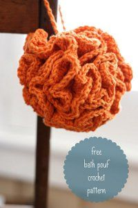One Hour Bath Pouf | AllFreeCrochet.com - The last one of these I made up was very quick and easy, but it may have been a different pattern.
