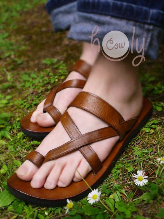 f1109f7efd01 Handmade Leather Sandals Brown Leather Sandals Womens