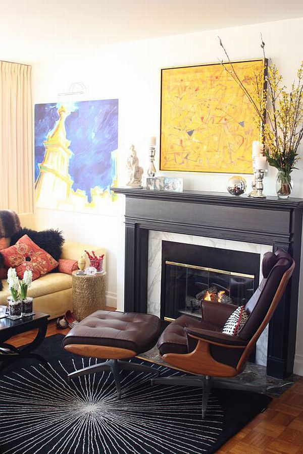 How to arrange furniture around a fireplace