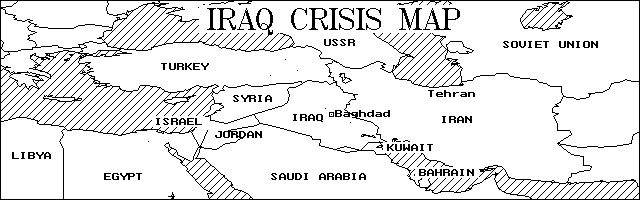 Iraq Crisis map (First Gulf War)