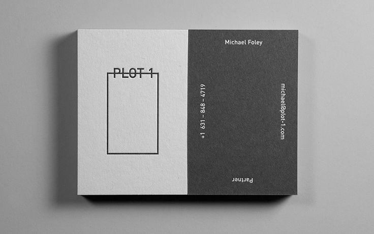 Plot 1 business cards designed by Italic Studio.